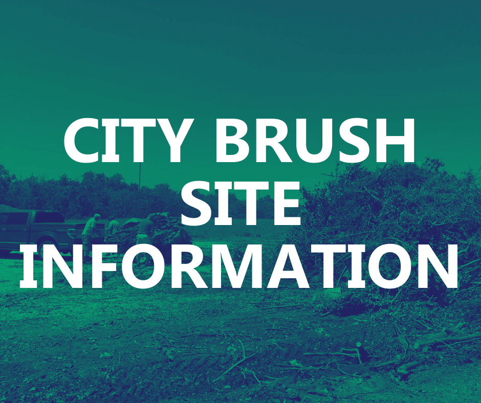 The land the City brush site was on was sold and no longer available residents.