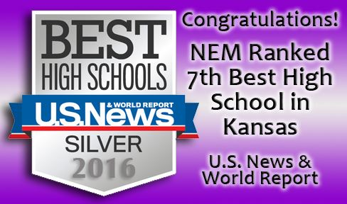 Congratulating NEM for being ranked 7th Best High School in Kansas